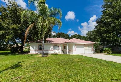 Palm Coast FL Single Family Home For Sale: $315,000