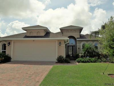 Palm Coast Single Family Home For Sale: 62 Arena Lake Dr