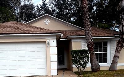 Palm Coast Single Family Home For Sale: 31 Round Tree Drive