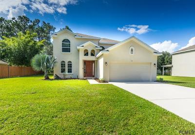 Palm Coast FL Single Family Home For Sale: $237,500