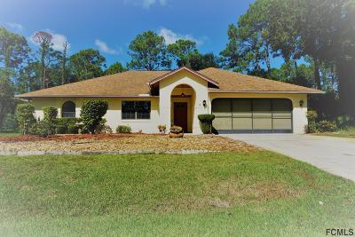 Palm Coast Single Family Home For Sale: 3 Wayside Place
