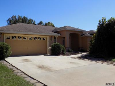 Palm Coast FL Single Family Home For Sale: $224,000