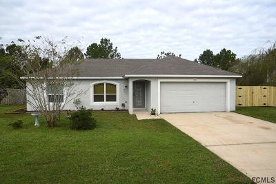 Palm Coast FL Single Family Home For Sale: $186,999