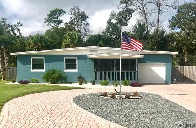 Flagler Beach Single Family Home For Sale: 390 Palm Dr