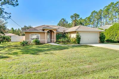 Palm Coast FL Single Family Home For Sale: $182,000