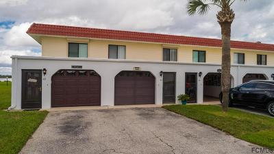 Flagler Beach Condo/Townhouse For Sale: 63 Ocean Palm Villas S #63