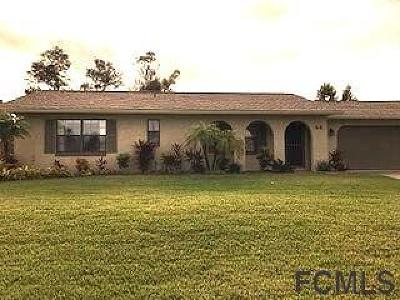 Palm Coast Single Family Home For Sale: 44 Fernwood Ln