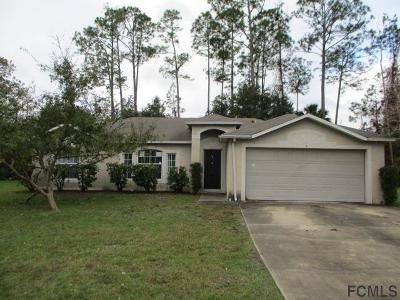 Palm Coast FL Single Family Home For Sale: $158,100
