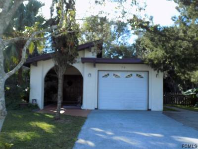 Palm Coast Single Family Home For Sale: 70 Farragut Drive