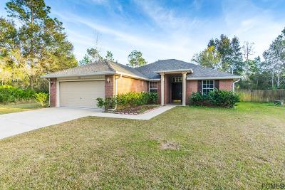 Palm Coast FL Single Family Home For Sale: $206,900