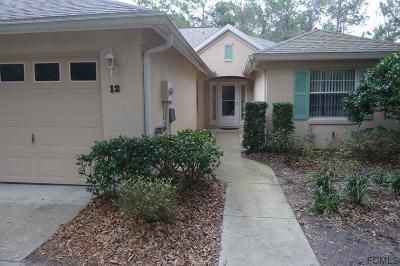 Palm Coast Condo/Townhouse For Sale: 12 Lafayette Lane #12