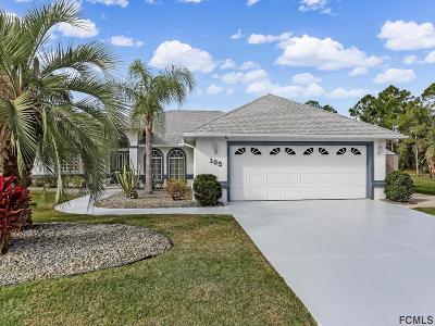Palm Coast FL Single Family Home For Sale: $445,000