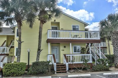 Palm Coast, Flagler Beach Condo/Townhouse For Sale: 511 Ocean Marina Drive #511