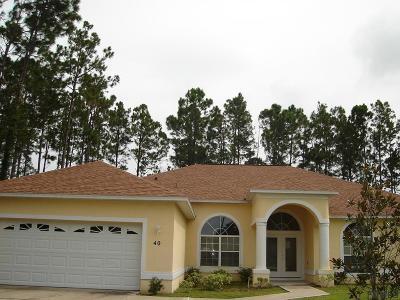 Palm Coast Single Family Home For Sale: 40 Rainstone Lane