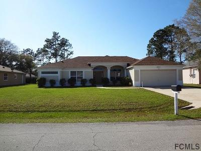Palm Coast FL Single Family Home For Sale: $209,900