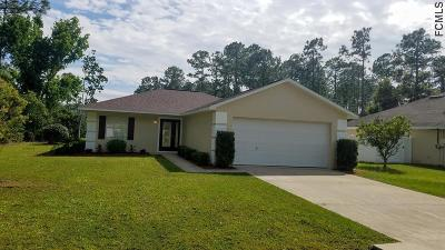 Palm Coast FL Single Family Home For Sale: $187,900