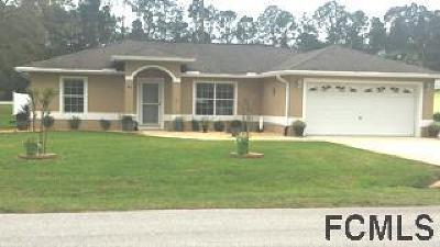 Palm Coast FL Single Family Home For Sale: $174,900