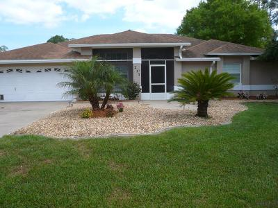 Palm Coast FL Single Family Home For Sale: $265,000