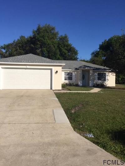 Palm Coast FL Single Family Home For Sale: $206,000