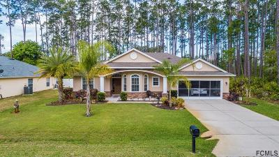 Palm Coast FL Single Family Home For Sale: $296,000