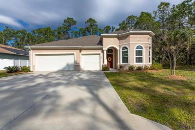 Palm Coast FL Single Family Home For Sale: $280,000