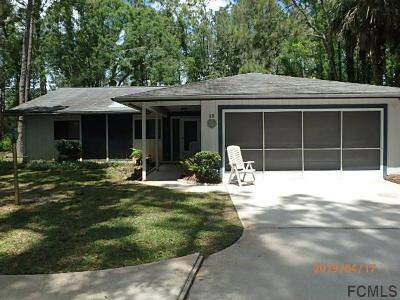 Palm Coast Single Family Home For Sale: 11 Willow Pl