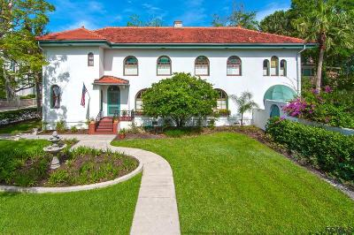 St Augustine Single Family Home For Sale: 39 Valencia Street
