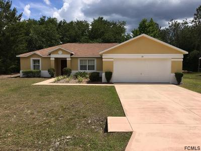 Palm Coast Single Family Home For Sale: 13 Rale Pl