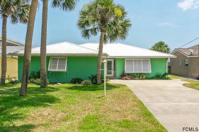 Flagler Beach Single Family Home For Sale: 105 Palm Dr