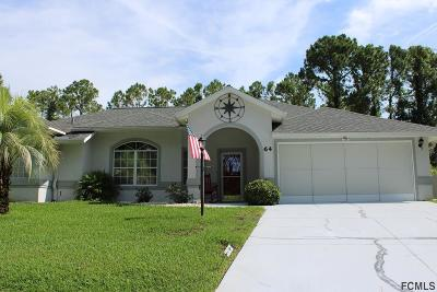 Palm Coast Single Family Home For Sale: 64 Wood Cedar Drive