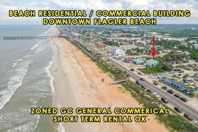 Flagler Beach Single Family Home For Sale: 409 N Ocean Shore Blvd