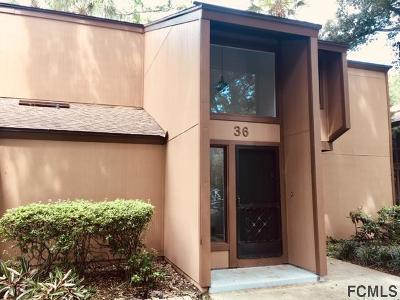 Palm Coast Condo/Townhouse For Sale: 36 Fairways Circle #36