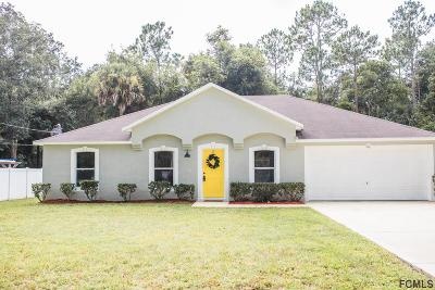 Palm Coast FL Single Family Home For Sale: $219,000