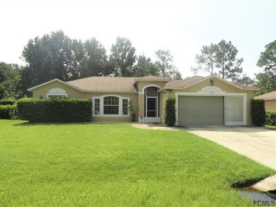 Palm Coast FL Single Family Home For Sale: $195,000