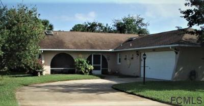 Palm Coast FL Single Family Home For Sale: $219,900