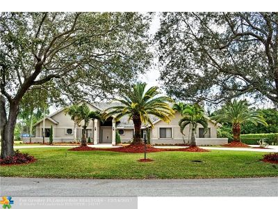 Coral Springs Single Family Home For Sale: 5413 E Leitner Dr