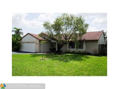 Coral Springs FL Single Family Home Backup Contract-Call LA: $299,900
