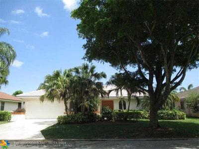 Coral Springs Single Family Home Sold: 4891 NW 58th Ter
