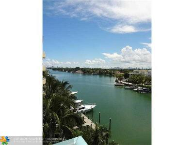 Miami Beach Condo/Townhouse For Sale: 6000 Indian Creek Drive #6A
