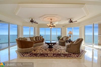Broward County Condo/Townhouse For Sale: 1460 S Ocean Blvd #904