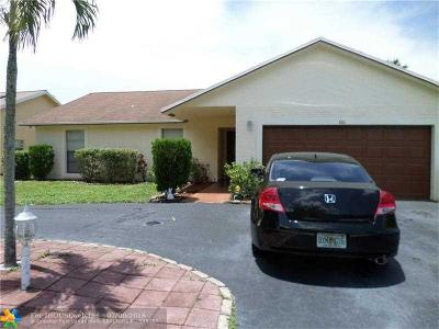 Lauderhill Single Family Home Backup Contract-Call LA: 8561 NW 49th St