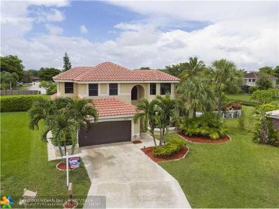 Coral Springs Single Family Home Sold: 5951 NW 52nd St