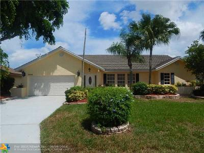 Coral Springs Single Family Home Sold: 5533 NW 58th Ter