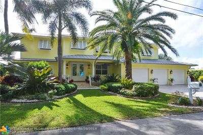 Pompano Beach Single Family Home For Sale: 2930 NE 23rd Pl