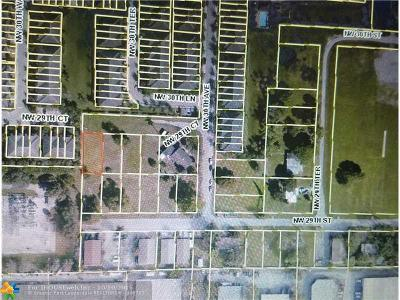 Oakland Park Residential Lots & Land Backup Contract-Call LA
