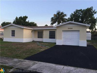 North Lauderdale Single Family Home For Sale: 6414 Braeburn