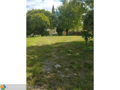 Pompano Beach Residential Lots & Land Backup Contract-Call LA: 1528 NW 7th Ter