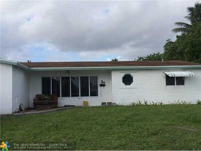 Margate Single Family Home For Sale: 6405 Royal Palm Blvd