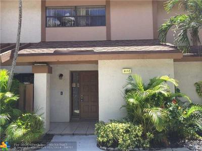 Coconut Creek Condo/Townhouse For Sale: 4692 NW 30th St #4692