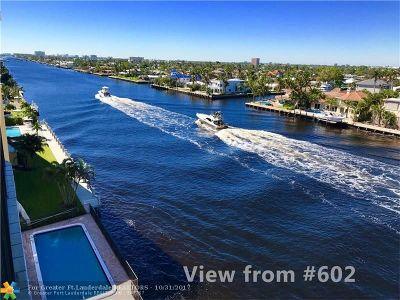 Pompano Beach Condo/Townhouse For Sale: 701 N Riverside Dr #602